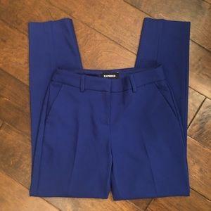 Express Columnist Ankle Mid Rise Blue Pants 0R